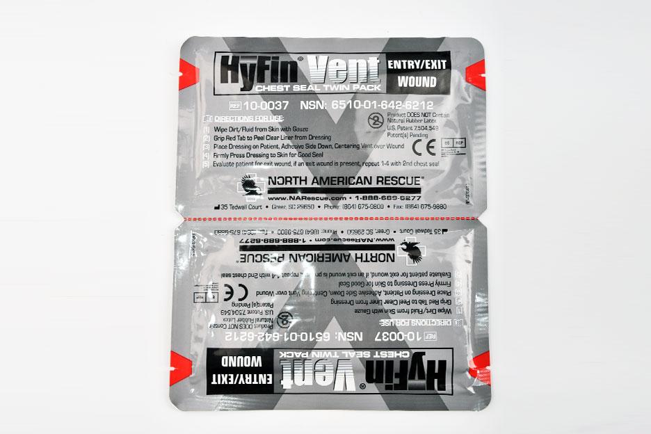 Пластырь оклюзионный при пневмотораксе HyFin Vent (вентилируемый)
