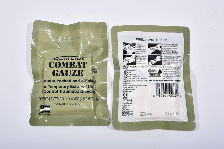 QuikClot Combat Gauze – кровоостанавливающий z-сложенный бинт