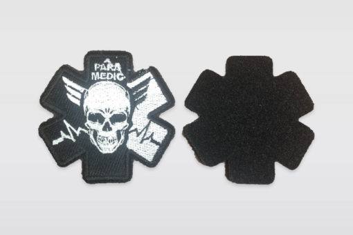 Патч «Para Medic» - Чёрно-белый