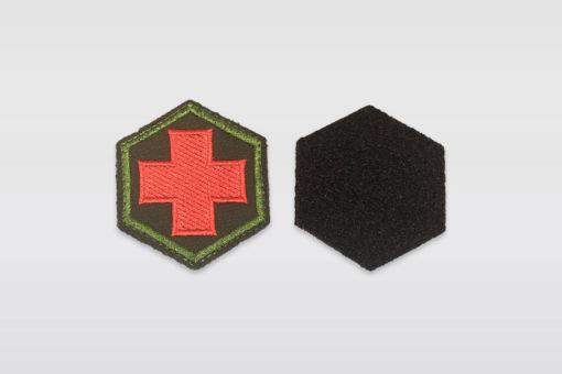 Патчи шестиугольник - Чёрный